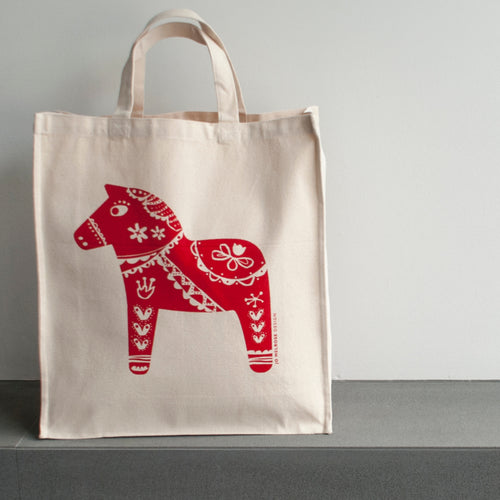 Dala Horse Canvas Bag