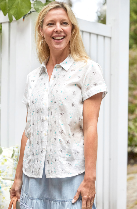 April Cornell Camp Swallow Blouse