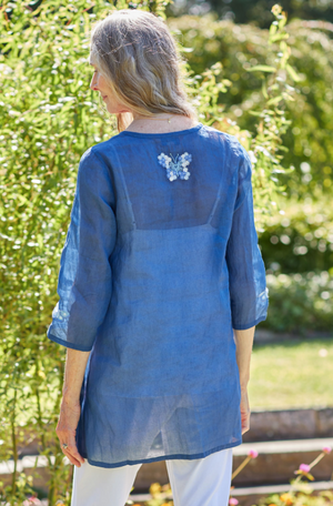 April Cornell Butterfly Organdy Top