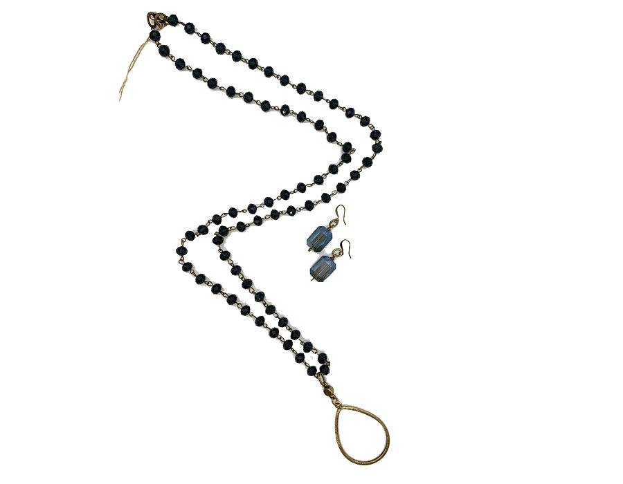 Long Crystal Beads W/ Pendant - ASST