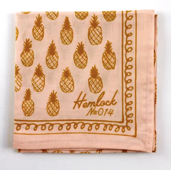 Hemlock Bandana - Pineapples