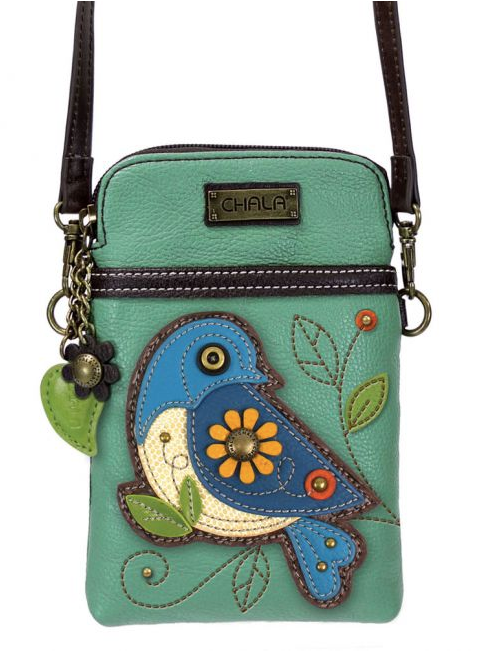 Crossbody Phone Bag - Blue Bird
