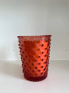 No. 4 Watermelon Basil Hobnail Glass Candle
