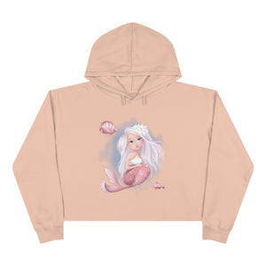 Interactive Mermaid Crop Hoodie