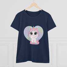 Load image into Gallery viewer, Uni the Baby Unicorn Talking Tee Women's Heavy Cotton Tee