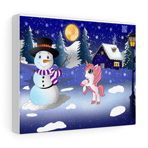 Snowy Season Canvas Print