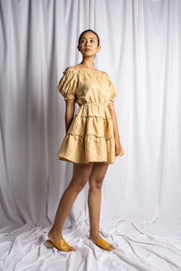 NYANYI DRESS IN NUDE | PURE LINEN