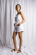 Load image into Gallery viewer, MEDEWI PLAYSUIT IN WHITE | PURE LINEN