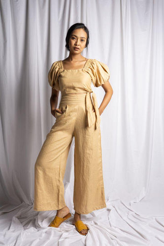PASUT PANT IN NUDE | PURE LINEN
