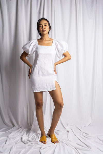 Ceningan Dress In White - Nataoka bali
