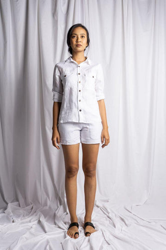 TANJUNG SHIRT IN WHITE | PURE LINEN