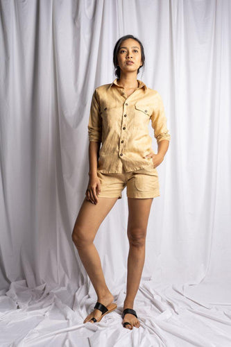 TANJUNG SHIRT IN NUDE | PURE LINEN