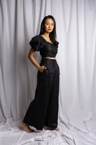 PASUT PANT IN BLACK | PURE LINEN