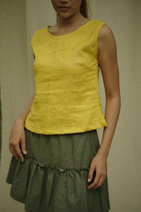 SIMPLE TANKTOP IN YELLOW | PURE LINEN
