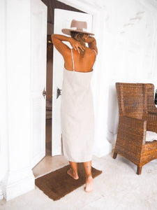 SALVIA DRESS IN BEIGE | PURE LINEN