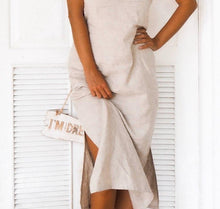 Load image into Gallery viewer, SALVIA DRESS IN BEIGE | PURE LINEN
