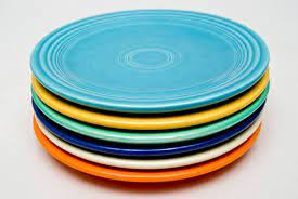 6 vintage fiesta lunch plates in the 6 original colors