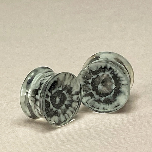 Nebula in Black and White Gauges 5/8 (16mm)