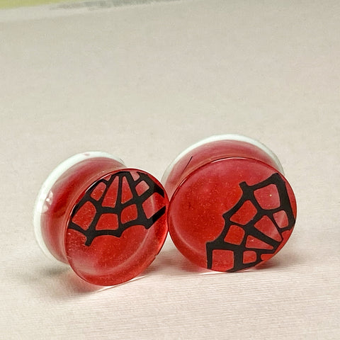 Spiderweb in Ruby Red Gauges 13/16 (20mm)