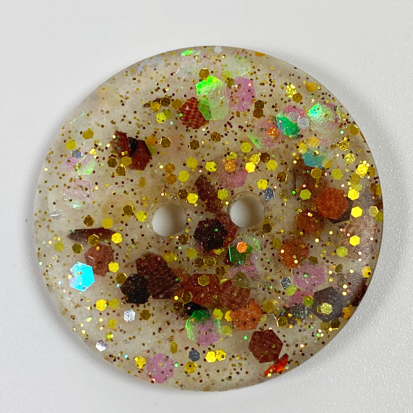 Fall Colors Flat Resin Button