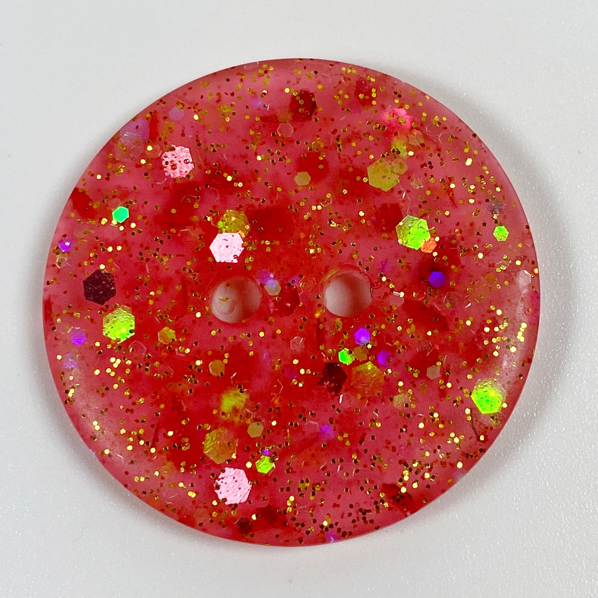 Pretty pink resin with various pink and gold glitter