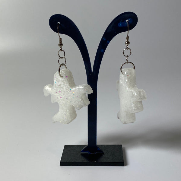Ghostly Resin Earrings