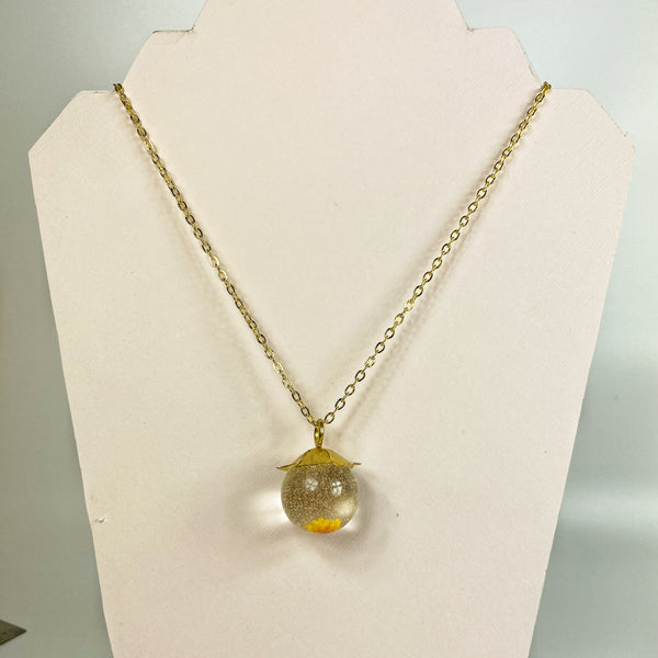 Necklace shown on a stand, so you can see clearly how gracefully it drapes