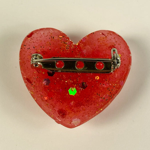 back of heart pin showing safety clasp