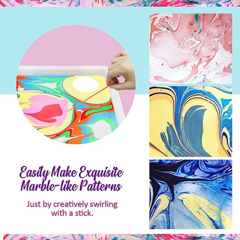 DIY Marbling Painting Kit-Water-based art paint set - migikid
