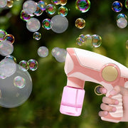 Cute Auto Smoke Bubble Machine  Gun with Music Soap Water Blower - migikid