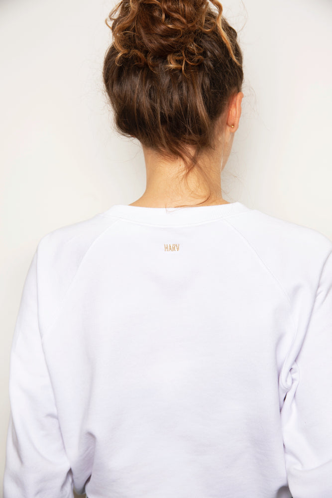 the HARV sweater - white