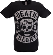 Mens Black Official The Clash Death or Glory Single Cover T Shirt