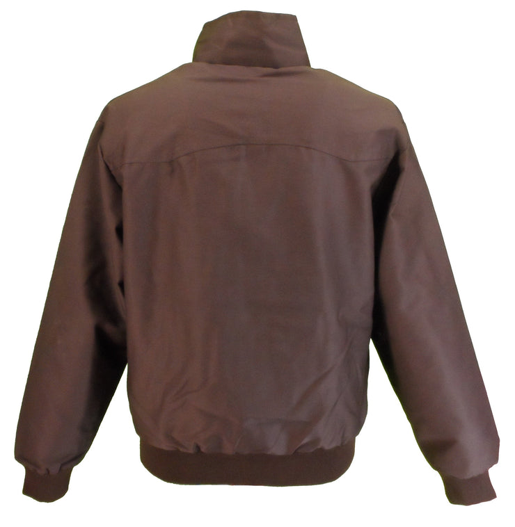 Ikon Original Mens Brown Retro Mod Classic Harrington Jacket - Ikon Original