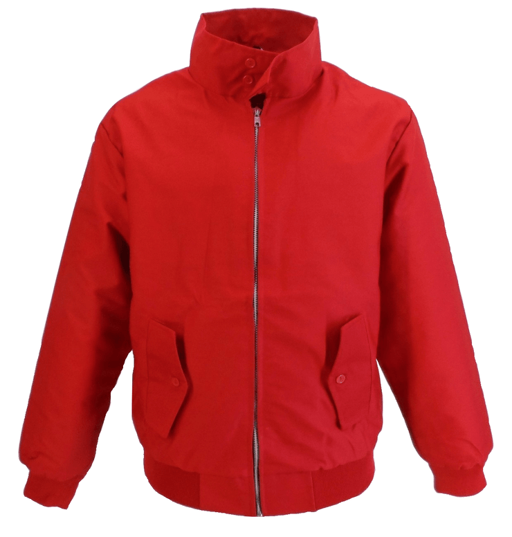 Ikon Original Mens Red Harrington Jacket`s - Ikon Original