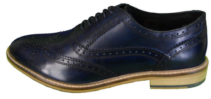 Ikon Original Leather Brogues in Navy