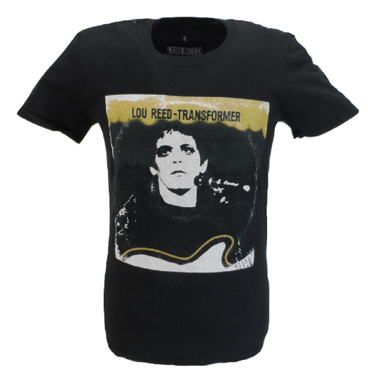 Mens Black Official Lou Reed Transformer LP Cover T Shirt