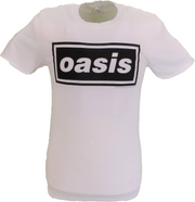 Mens Official Licensed Oasis White Decca Logo T Shirt