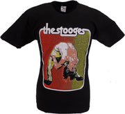 Mens Black Official Iggy and the Stooges Bent Double T Shirt