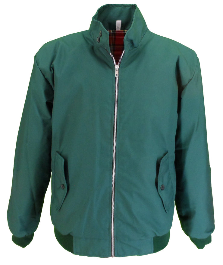 Ikon Original Mens Bottle Green Retro Mod Classic Harrington Jacket - Ikon Original