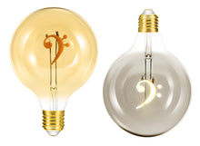 Load image into Gallery viewer, Bass Clef 4W Dimmable Globe LED Bulb ®