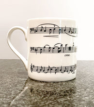Load image into Gallery viewer, Bone China Mug with Elgar's Cello Concerto Design