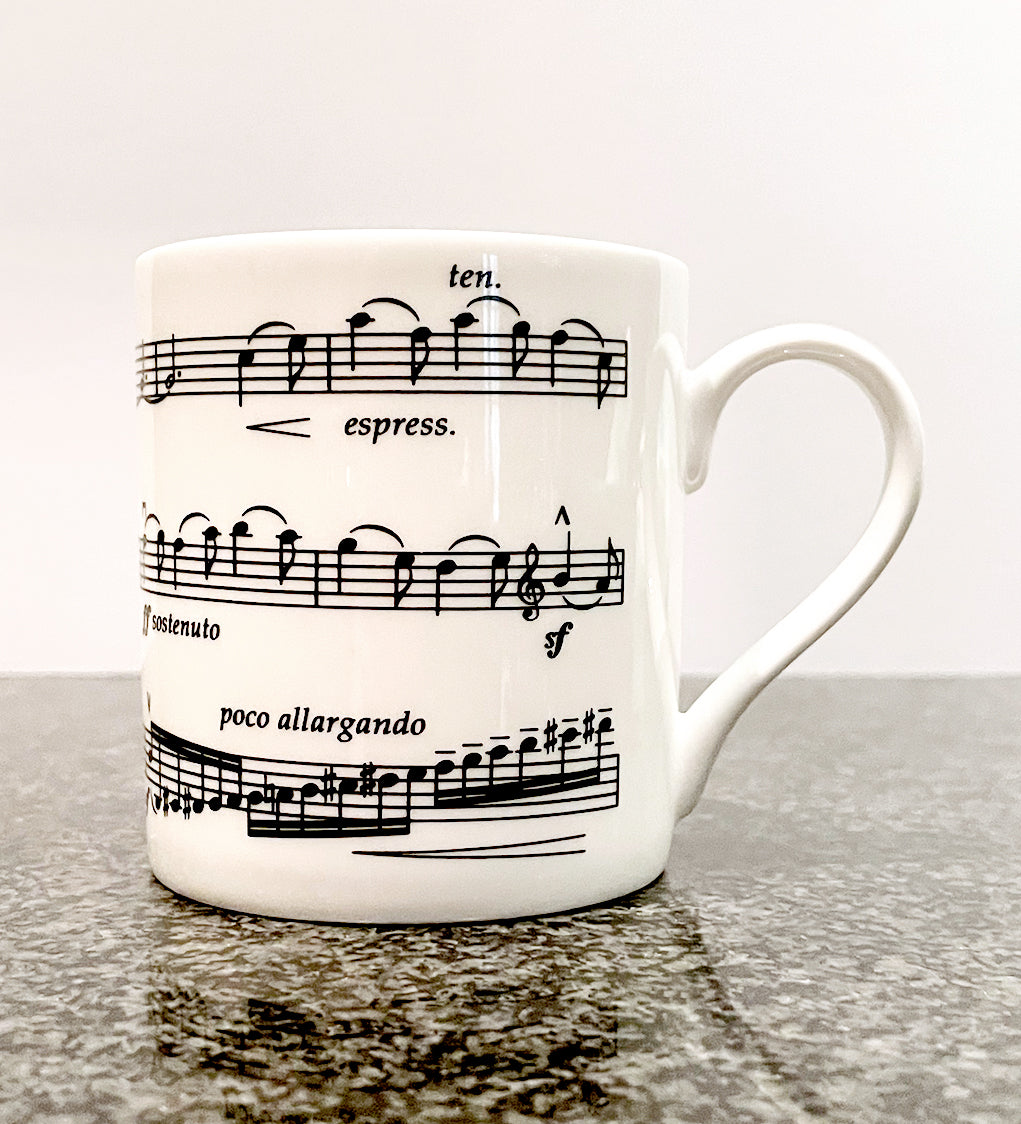 Bone China Mug with Elgar's Cello Concerto Design