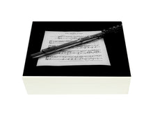 Load image into Gallery viewer, Flat Wooden A4 Flute Music File Box