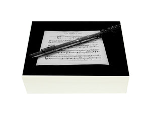 Flat Wooden A4 Flute Music File Box