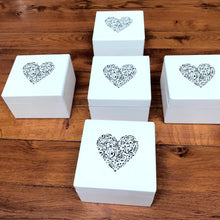 Load image into Gallery viewer, Music Heart Design Wooden Box in Small or Medium
