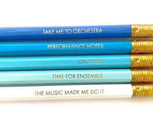 Musician's Pencil 2B - Blue or White