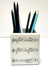 Load image into Gallery viewer, Wooden Pen / Pencil Pot - Manuscript Pattern
