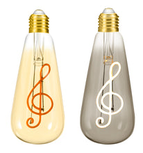 Load image into Gallery viewer, Treble Clef 4W Dimmable LED Bulb ®