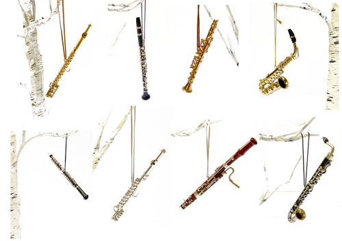 Christmas Ornaments - Woodwind: Clarinet; Flute; Saxophone; Oboe or Bassoon