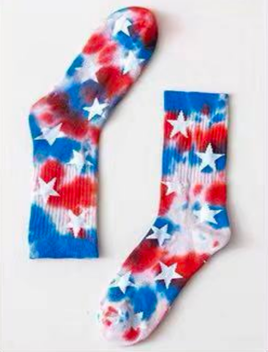 Liberty Tie Dye Star Socks